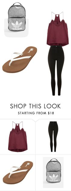 """""""rachels summer"""" by ashleyperryewa on Polyvore featuring Cami NYC, Topshop, Volcom, adidas, men's fashion and menswear"""