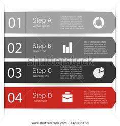 Template for your business presentation with arrows and text areas (info graphics)