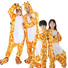 6d1391c71f Christmas Family Matching Giraffe Kigurumi Onesies Costume Pajamas