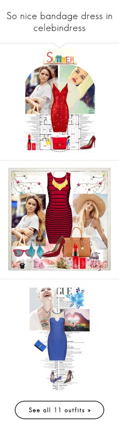 """So nice bandage dress in celebindress"" by celebindress ❤ liked on Polyvore featuring Hello Kitty, Post-It, Nearly Natural, celebindresslook, Alessi, The French Bee, WALL and Umbra"