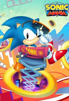 """THANKS to the team responsible for Sonic Mania, this is my tribute to them. With love 💙 ""Lights, Camera, Action!"" Art by Nerkin Sonic The Hedgehog, Hedgehog Art, Classic Sonic, Sonic Mania, Sonic Franchise, Sonic Fan Art, Blue Streaks, Video Game Art, Logo Nasa"