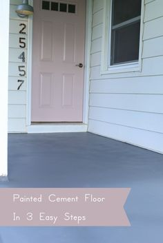 How to paint a cement floor in 3 easy steps. The Dempster Logbook.