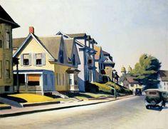 "Edward Hopper (American): Oil Painting, ""Prospect Street, Gloucester"" (1934) [Cincinnati Art Museum]"
