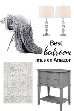 Best chic and romantic bedroom decor and furniture on amazon!