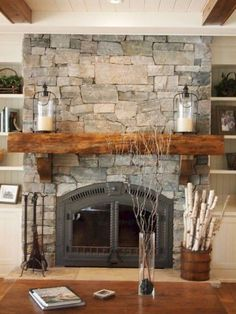 Most up-to-date Pics Farmhouse Fireplace rock Ideas Willing to find out how to u., Most up-to-date Pics Farmhouse Fireplace rock Ideas Willing to find out how to u…, Rock Fireplaces, Rustic Fireplaces, Farmhouse Fireplace, Home Fireplace, Fireplace Remodel, Fireplace Design, Fireplace Mantels, Rustic Farmhouse, Farmhouse Style
