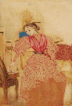 Edouard Vuillard, demoiselle en rouge