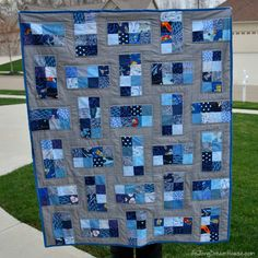 de Jong Dream House: Quilt :: Crazy Eights use star fabrics Quilting Templates, Quilt Patterns Free, Quilting Tutorials, Quilting Designs, Block Patterns, Quilting Ideas, Quilting Projects, Rag Quilt, Scrappy Quilts