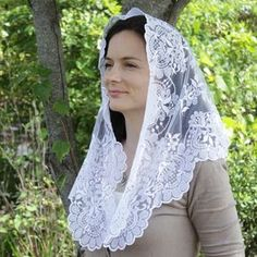 Good to know and share The Historic Christian Tradition Behind Mantillas/Chapel Veils Catholic Veil, Chapel Veil, Traditional Looks, White Lace, Marie, Feminine, Catholic Company, Head Coverings, Floral Lace
