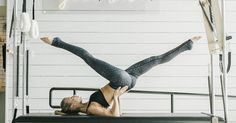 """As someone who is 5'4"""" (but acts like she is 6'!), you won't be surprised to hear that lengthening and sculpting my legs is a focus in my own daily Pilates workouts. I have a few favorite go-to exercises that have incredible results. So if you want to get those gams summer-ready, then find yourself a mat (or soft surface like..."""