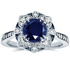 Flower Sapphire Ring Women€Simulated Zircon Jewelry Engagement Ring Accessories #ebay #Fashion