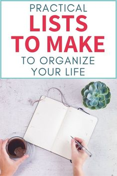 Lists to make to organize your life. Ideas for lists that will make you more productive, organized, happy, and intentional. #Organizing #ProductivityTips #organizingmoms How To Be More Organized, How To Make Planner, Organized Mom, Lists To Make, Getting Organized, Budget Organization, Planning And Organizing, Organization Ideas, How To Make Lemonade