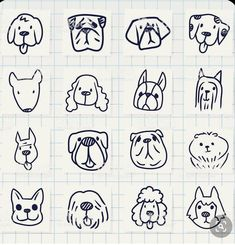 Vector File of Doodle Dog Breed Icon Set stock vector - Clipart. Doodle Drawings, Animal Drawings, Doodle Art, Easy Drawings, Doodle Dog Breeds, Tier Doodles, Logo Animal, Free Vector Art, Vector File