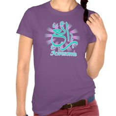 Awesome 'Ryeah' Arabic Calligraphy Violet Tee, design by FirasBachi©