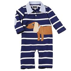 Mud Pie BabyBoys Newborn Puppy Polo One Piece Blue 912 Months ** Check out the image by visiting the link.