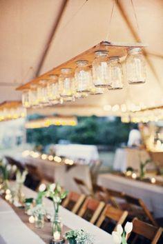 15 Reception Lighting Ideas: mason jars