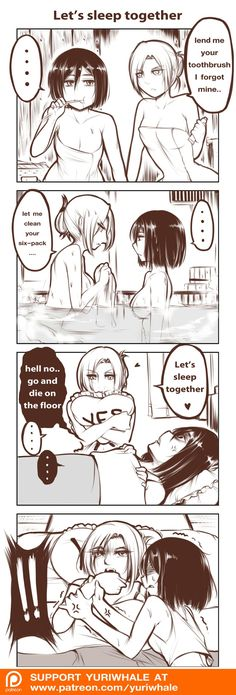 Annie gets what Annie wants; she knows how to play Mikasa lol. Mikannie | Annie Leonhardt | Mikasa Ackerman | Shingeki no Kyojin | Attack on Titan | AoT | Snk