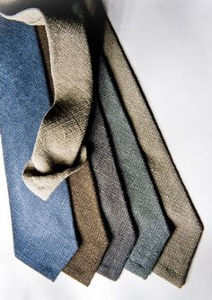 "Lardini ""Ricerca"" Ties. Cool Ties made of a cloth like material."