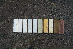 California Colors, California Coast, Northern California, Glazed Brick, Thin Brick, Brick Tiles, Sierra Nevada, Salvia, Tile Ideas