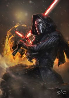 Kylo Ren, TheKnott Tarasilp on ArtStation at https://www.artstation.com/artwork/oWQ1L