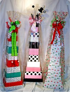 Love these new Tower sets I fill with awesome Mary Kay products ~ fabulous for Wedding Showers, Baby Showers, Mother's Day and of course 12-Days of Christmas Holiday gifts!! Order yours NOW.  dkinkel@marykay.com