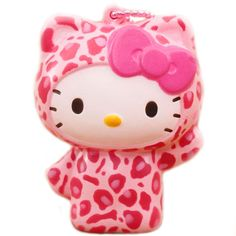 Pink Leopard Hello Kitty Squishy Charm