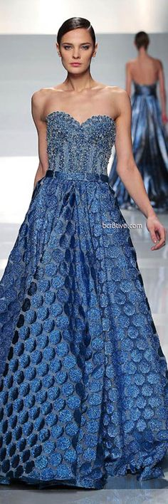 Tony Ward Spring Summer 2013 Couture  How beautiful!! Of course, being one of my favorite colors, might have influenced me.