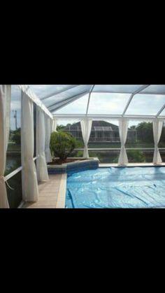 Pool curtains