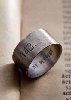 Custom love message ring
