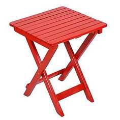 Red porch side table... i need ths for my front porch :)
