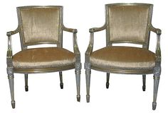 Beautiful Louis XVII-Style Giltwood Chairs, Pair on OneKingsLane.com