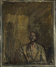 Jean Genet by Alberto Giacometti, c1954-5.