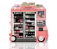 #Benefit Cosmetics Glam Up and Away Vending Machines - Why I'm loving this concept!! Beauty Point Of View