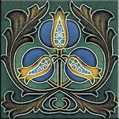 Decorative Wall Tile Art Art Nouveau Stile Ceramic Wall Tile 3 X 6 Inches #2  Art Nouveau