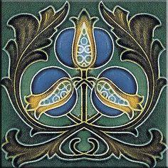 Decorative Wall Tile Art Art Nouveau Stile Ceramic Wall Tile 3 X 6 Inches #2  Art Nouveau