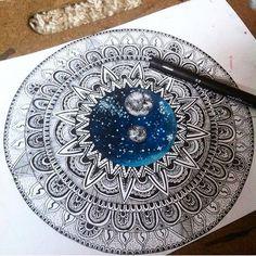 mandala, pen colour art [610 × 610] : Art