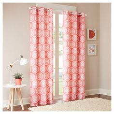 Rieti Medallion Printed Curtain Panel Pair : Target