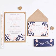 I've just found Wedding Invite Blush And Navy. A beautiful wedding invite bundle featuring an intricate blush and navy floral print!. £1.00