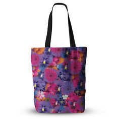 """Akwaflorell """"Find the Tiger"""" Purple Pink Everything Tote Bag - KESS InHouse  - 1"""