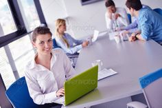 business woman with her staff in background at office ...  adult, assistant, attitude, background, beautiful, beauty, business, businesswoman, caucasian, collar, communication, company, computer, corporate, education, executive, face, female, girl, glasses, group, happy, job, laptop, leader, looking, man, manager, meeting, modern, office, people, person, portrait, seminar, smile, staff, success, table, team, teamwork, together, training, white, woman, women, work, worker, young