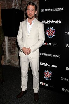 Ryan Gosling pimps a white suit for the 'Only God Forgives' premiere