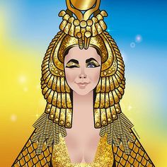 """Elizabeth Taylor as """"Cleopatra"""" Classic Actresses, Hollywood Actresses, Old Hollywood, Disney Drawing Tutorial, Geek Costume, Elizabeth Taylor Cleopatra, Cinema Tv, Celebrity Caricatures, Celebrity Drawings"""