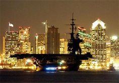 Midway Against San Diego Skyline by stephenpend, via Flickr