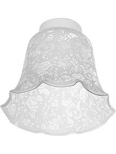 """Victorian Lace Filigree Fixture Shade with 2 1/4"""" Fitter"""