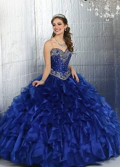 #FBF to our Fall 2015 collection! Give some love to Style 80271 in Royal blue! #Gorgeous #Quinceanera http://ift.tt/1R1rlgt