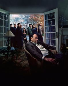 The Sopranos - Tony Soprano with the weight of the world on his shoulders #GangsterFlick