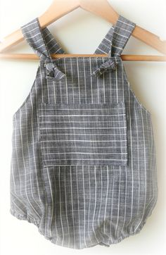 Baby Boy Chambray Romper