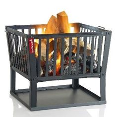 modern outdoor fire basket - Google Search Outdoor Fire, Outdoor Living, Fire Basket, Log Fires, Fire Starters, Fireplace Design, Outdoor Cooking, Firewood, Foyer