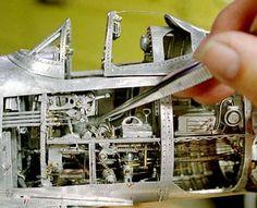 Amazing Hand Fabricated Aluminum Corsair and P51 Mustang Aluminum Model Airplanes