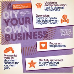"""Focus on the Positives."" Four quotes to motivate you to DIY your own business via the #PassionProject."