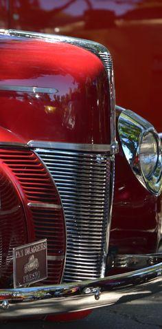 Red 1940 Ford Hotrod Grille by Dean Ferreira Fine Art